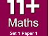 11 PLUS entrance exams practice- MATHEMATICS part/paper 1
