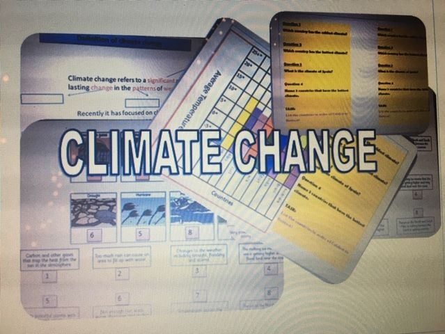 CLIMATE CHANGE LESSONS AND RESOURCES