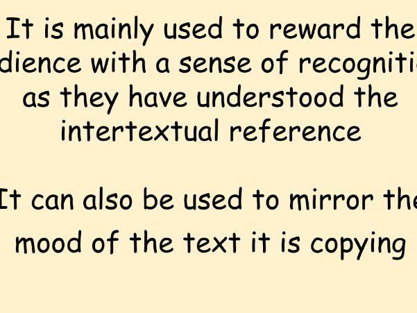 Unit 1 - Intertextuality