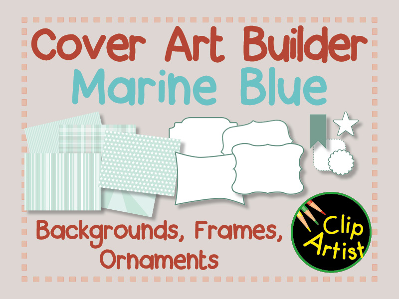 Cover Builder for Authors and Presentations - Marine Blue (Pastel)