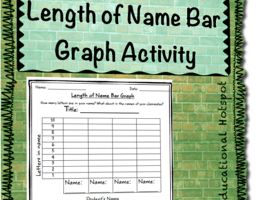 Length of Name Bar Graph Worksheet Activity