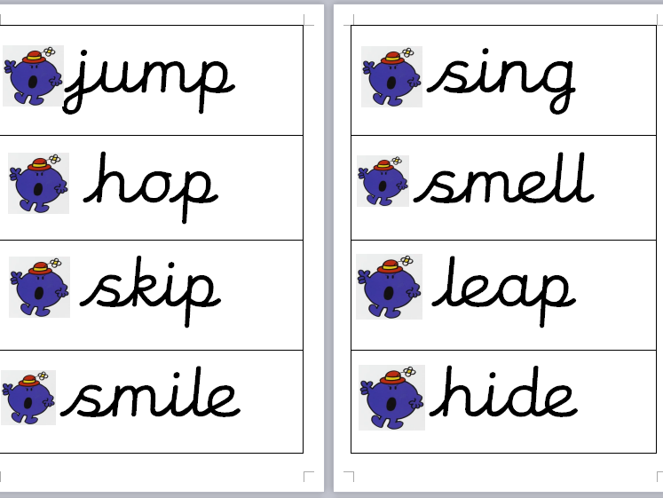 Year One Imperative Verbs (bossy verbs!) Whole Class Activity