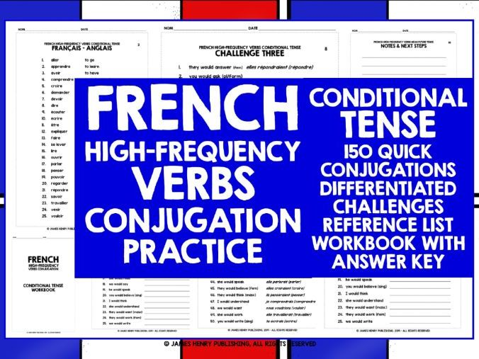 FRENCH HIGH-FREQUENCY VERBS CONJUGATION 6