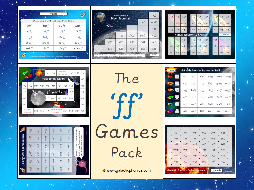 The 'ff' Phonics Games Pack
