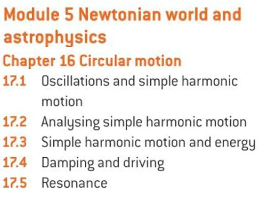 OCR A level Physics: Oscillations and Simple Harmonic Motion
