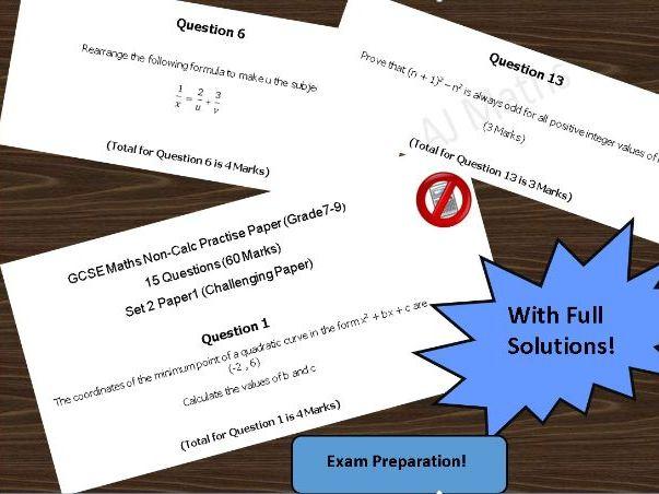 GCSE 9-1 Maths TRICKY Exam Paper (Grade 7+)