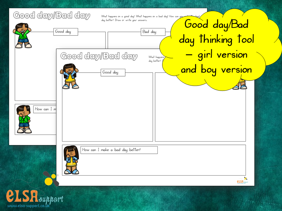 Good day/bad day - thinking tool, PSHE