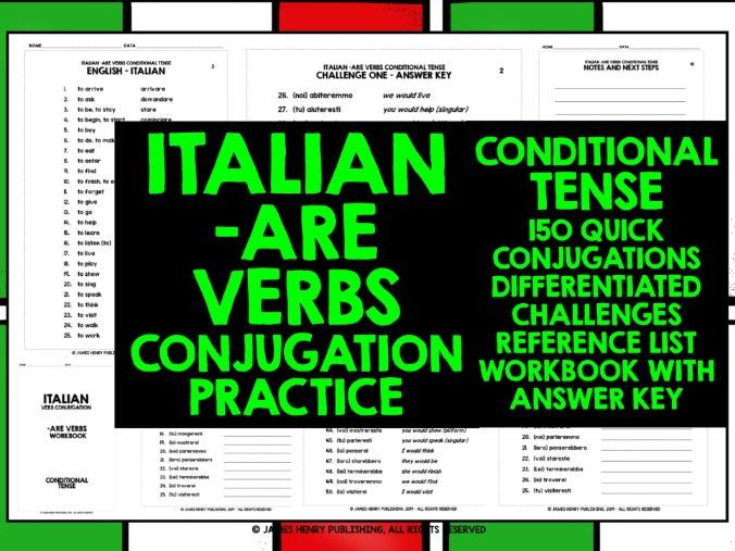 ITALIAN -ARE VERBS CONJUGATION #5