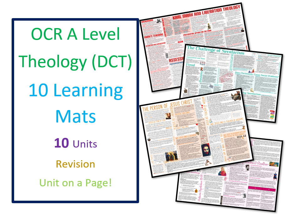 OCR A Level Theology / Developments in Christian Thought: Learning Mat Bundle