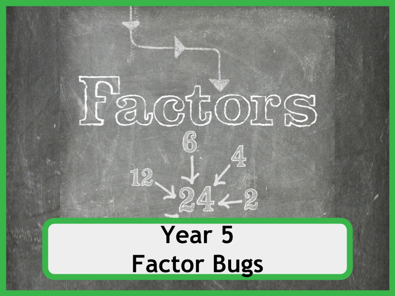 factor bugs for year 5 classes no prep required