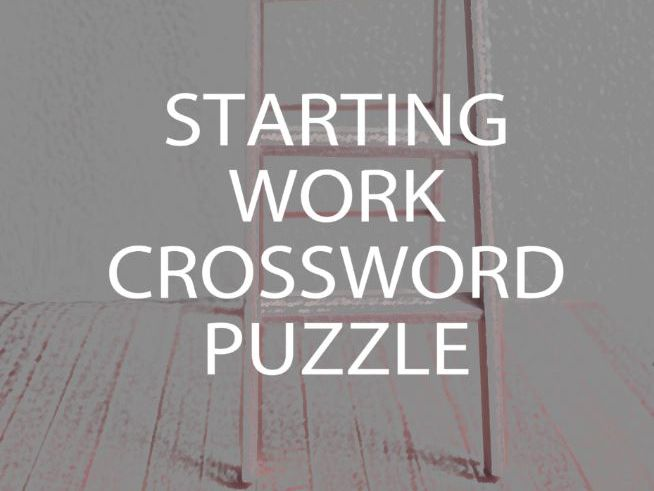 Starting Work Crossword Puzzle