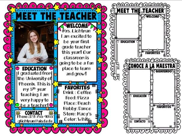MEET THE TEACHER ★ EDITABLE NEWSLETTER