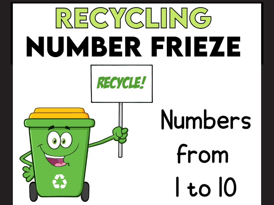 Recycling Number Frieze from 1 to 10