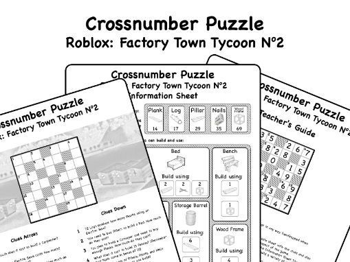 Roblox: Factory Town Tycoon - Cross Number Puzzle No2