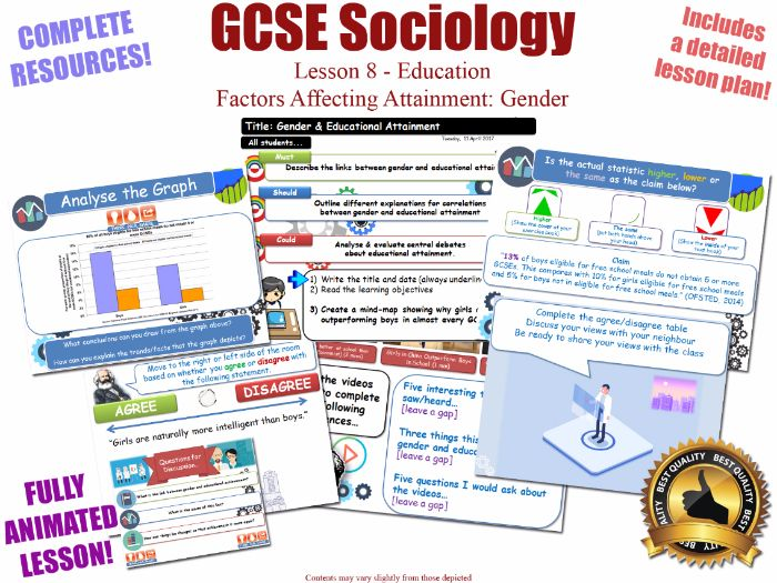 Educational Achievement (2) - Gender - Sociology of Education L8/20 [ WJEC EDUQAS GCSE Sociology ]