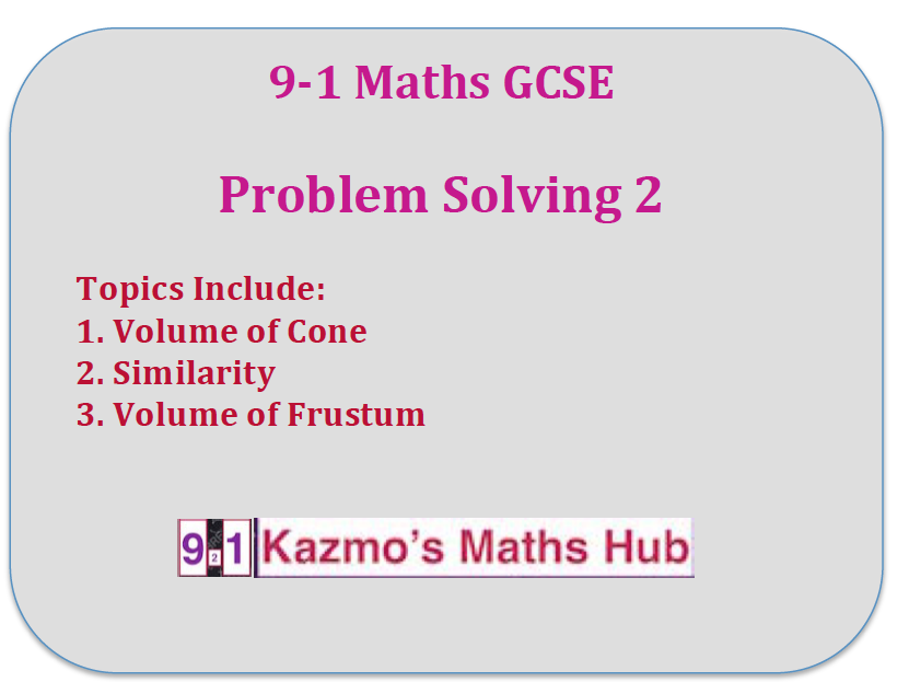 9-1  Gcse Maths  Problem Solving 2