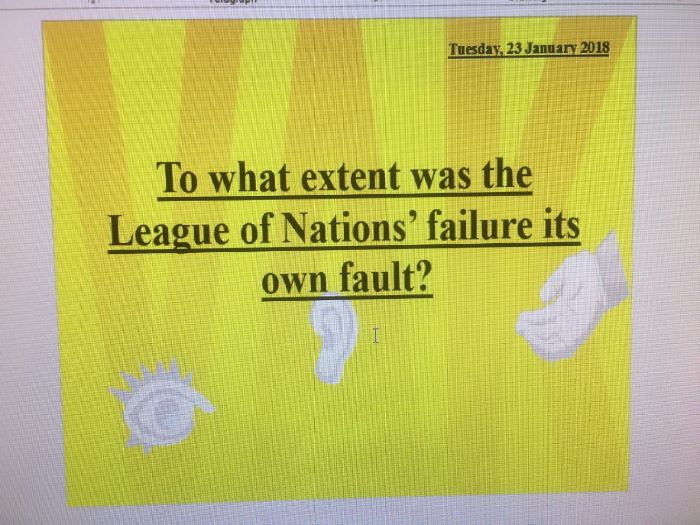 To what extent was the League of Nations its own fault?