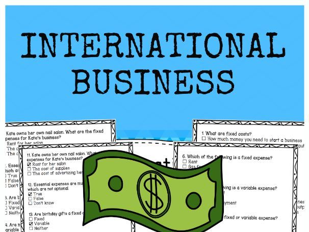 International Business - Multiple Choice Quiz