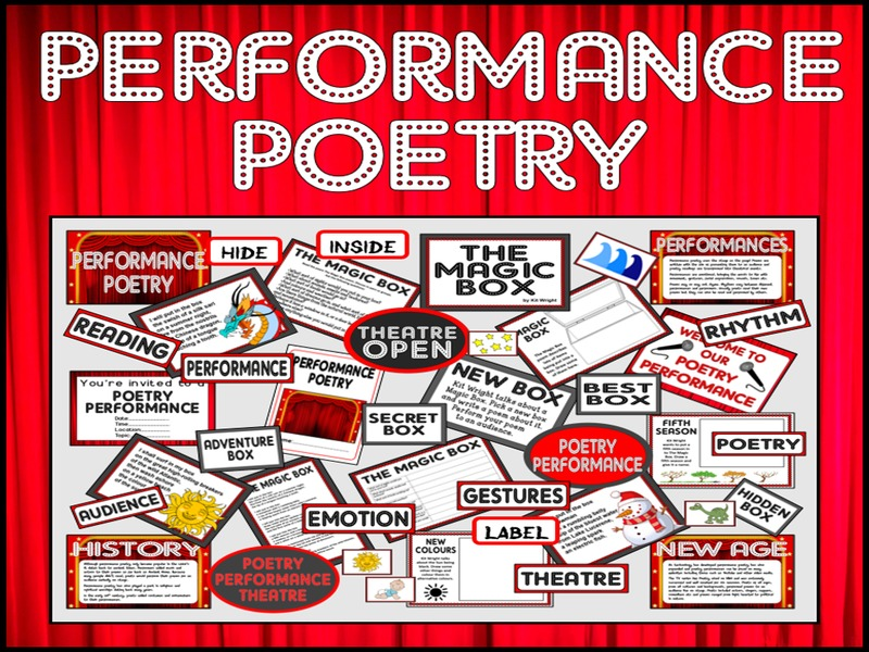 performance poetry teaching resources key stage 1