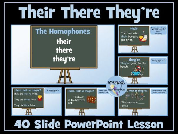 English Functional Skills - Homophones - There, Their, They're