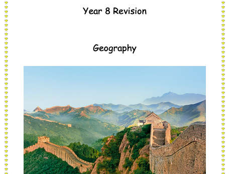 Geography Revision Booklet - population graphs, one child policy and birth/death rates.