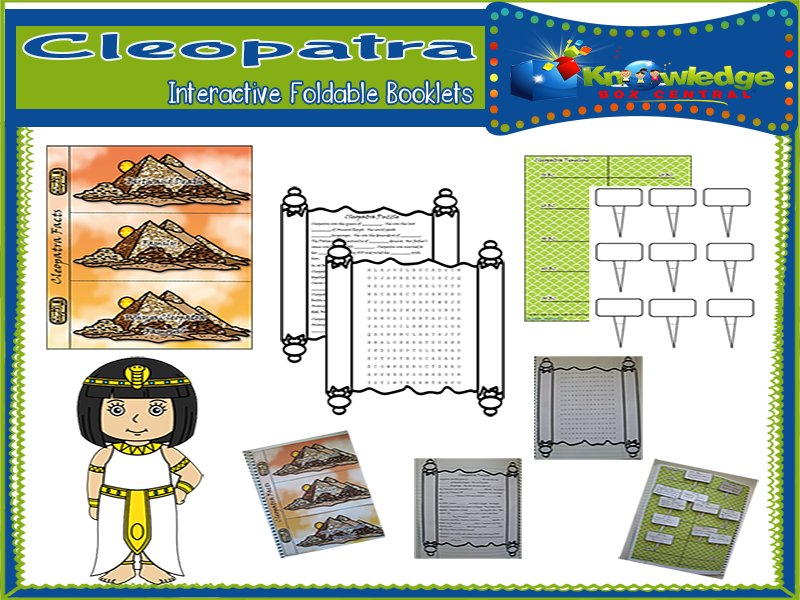 Cleopatra Interactive Foldable Booklets
