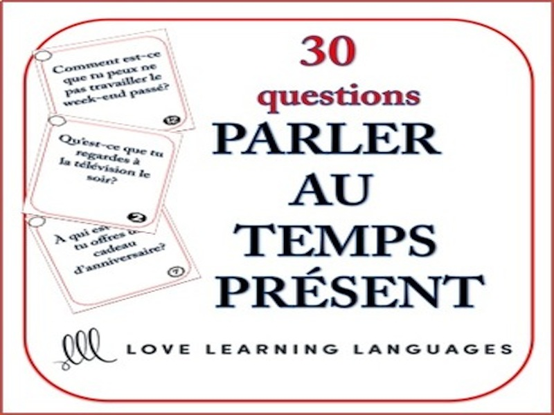 GCSE FRENCH: French Speaking Questions Task Cards - Present Tense