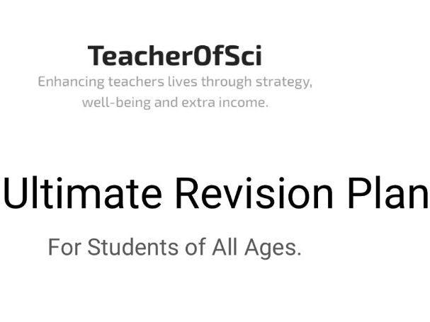 The Ultimate Revision Plan