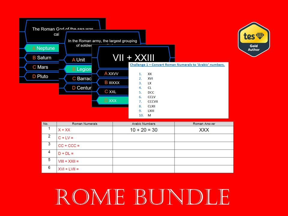 KS2 Rome Bundle
