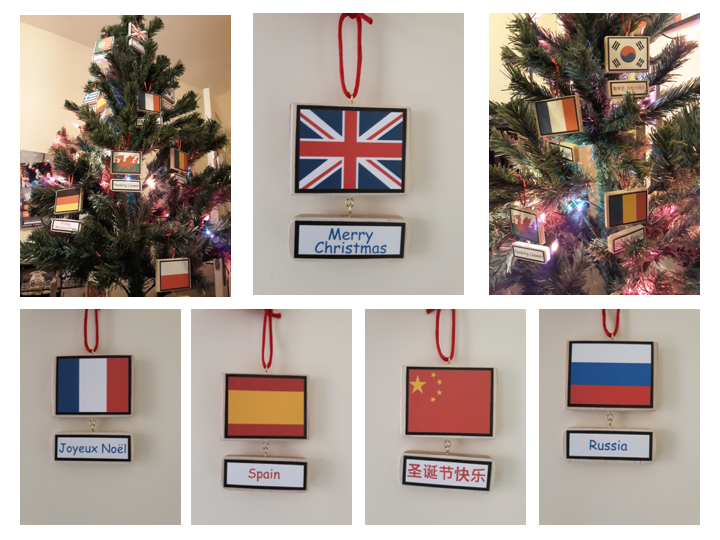 Languages Christmas Advent Decoration