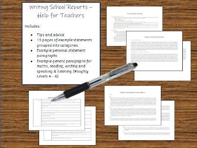 Teacher Report Writing - Tips and Example Statements