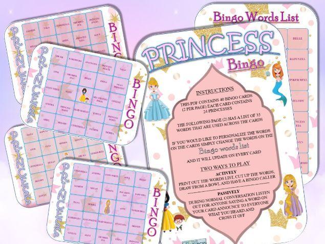 Princess Bingo