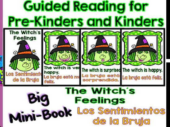 Guided Reading - The Witch´s Feelings / Los Sentimientos de la Bruja - Dual