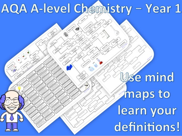 New AQA A-level Chemistry - glossary, definitions and mind map for all year 1 and AS topics