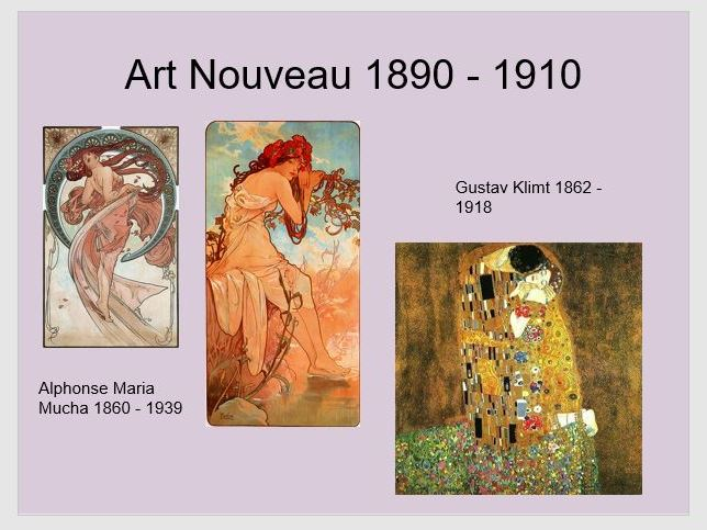 Art History timeline powerpoint with images