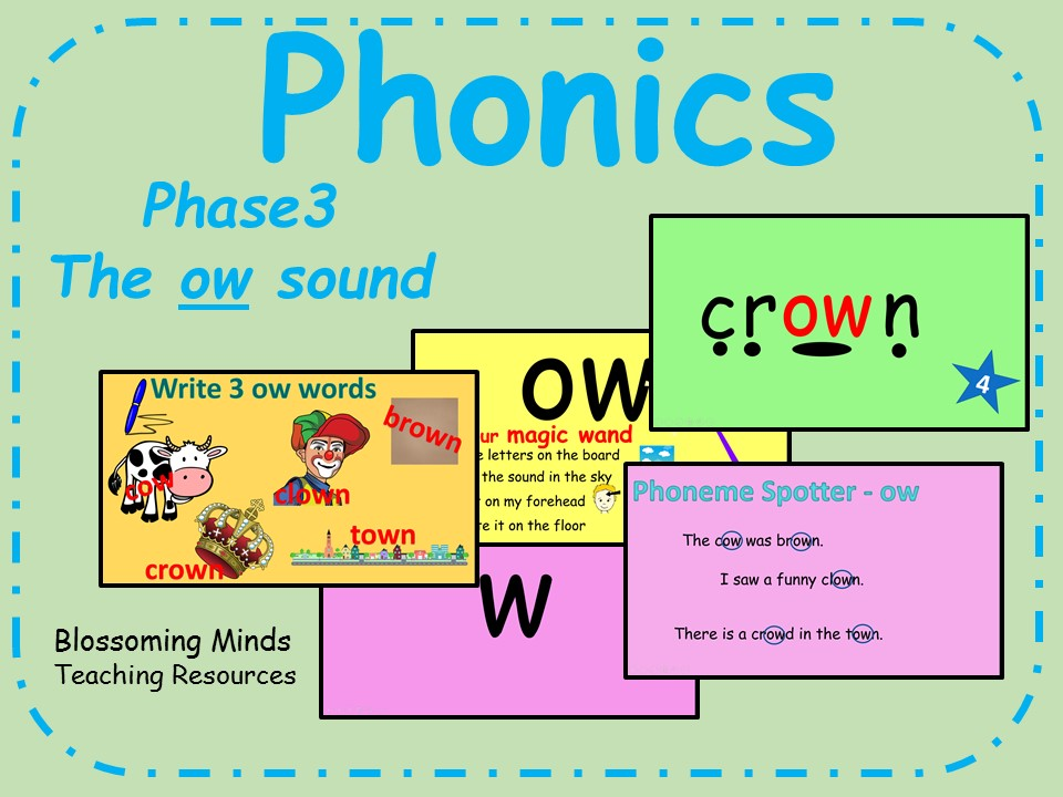 Phonics Phase 3 - The 'ow' sound