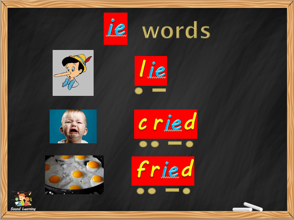 Teach the IE digraph, phonics, reading, spelling and writing.