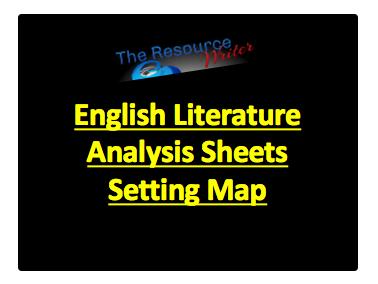 Literature Analysis Sheets Settings Map