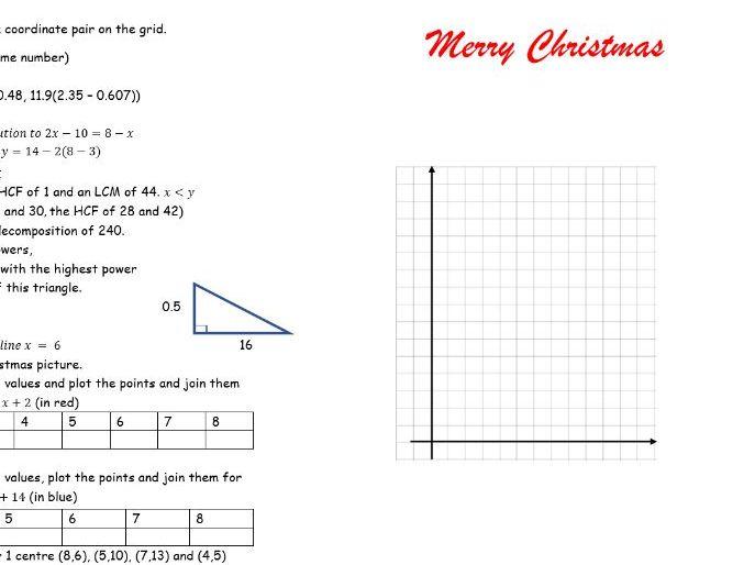A Christmas card designed for KS3,