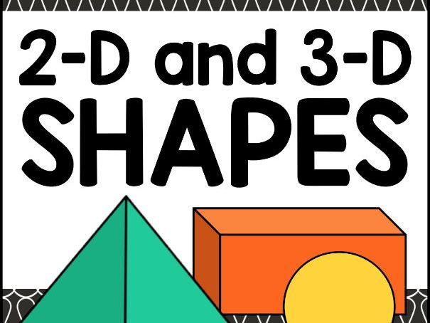 2D and 3D Shapes Worksheets and Matching Activity