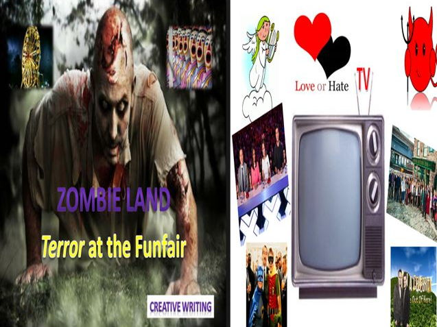 Zombie land Terror at the Funfair + TV Love or Hate and Literacy Game