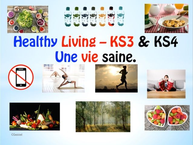 Home Learning or Classroom Learning French – Healthy Lifestyle – Une Vie Saine – KS3 & KS4.