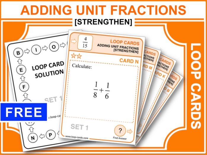 Adding Unit Fractions 2 (Loop Cards)