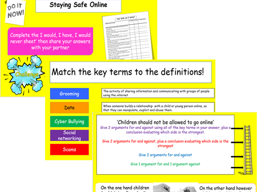 Online Safety-Lesson and Workpack