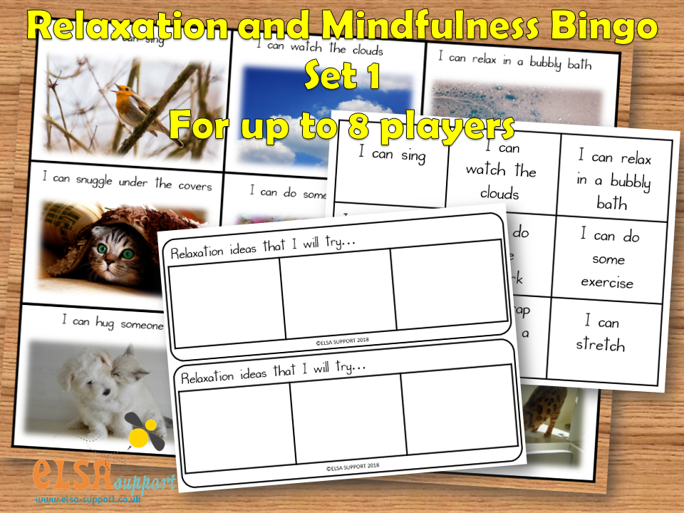 Mindfulness and Relaxation Bingo Set 1