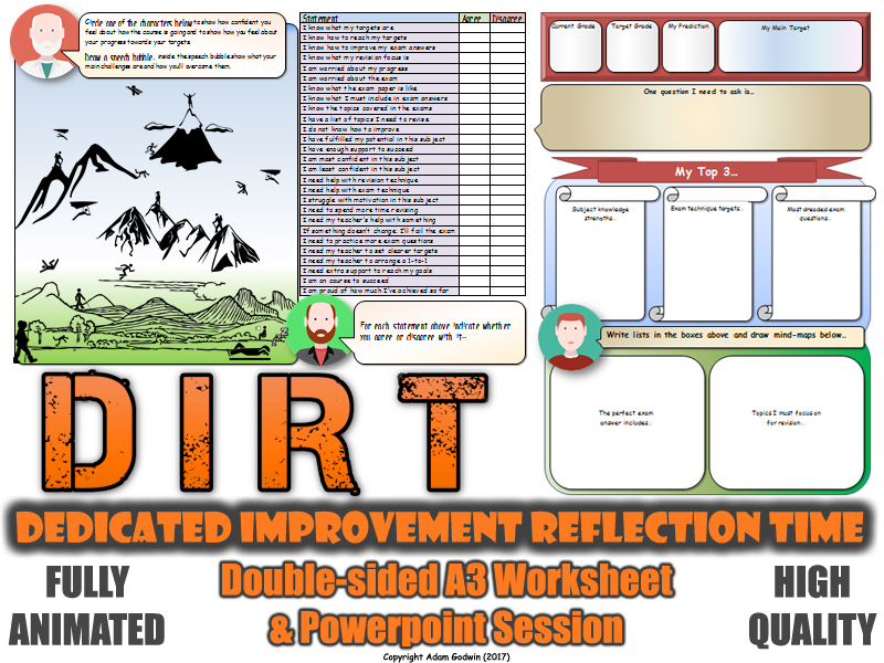 Science dirt worksheet a3 double sided gcse target for Science dirt
