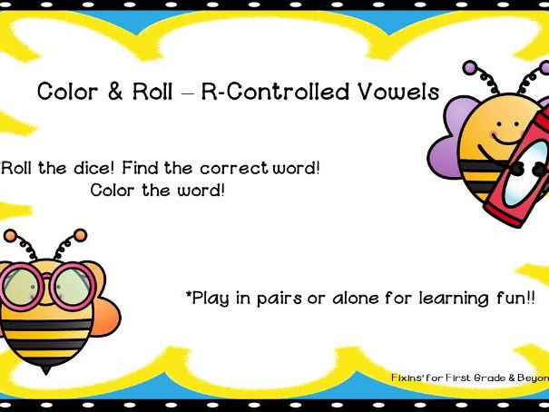 ROLL and COLOR - R- Controlled Vowels er, ir, ur, ar