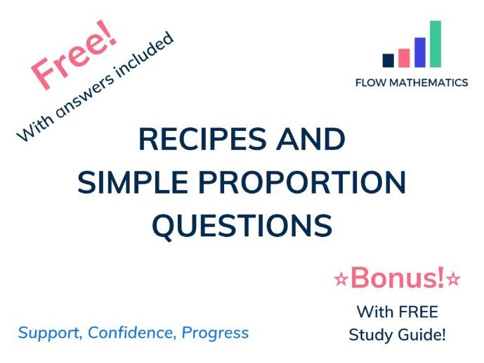 Recipes and simple proportion