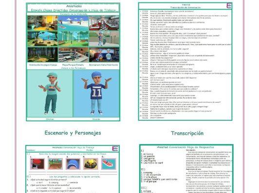 Friendship Spanish Conversation Worksheet
