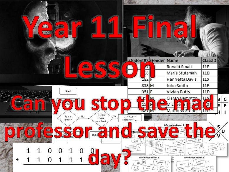 GCSE Computer Science: Fun revision lesson – Escape Room scenario